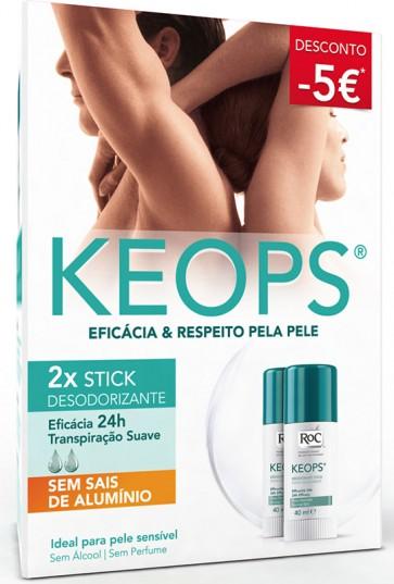 Roc Keops Deo Stick 40 ml X 2