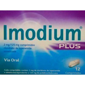 Imodium Plus Comprimidos 2/125 mg x 12