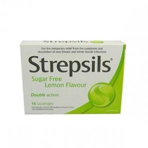 Strepsils Pastilhas Limão Sem Açúcar 0,6/1,2 mg x 16