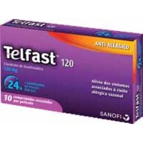 Telfast Comprimidos Revestidos 120 mg x 10