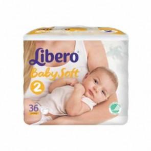 Libero Baby Soft Fraldas T2 - 3 - 6 Kg x 36