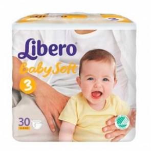 Libero Baby Soft Fraldas T3 -5 - 8 Kg x 30