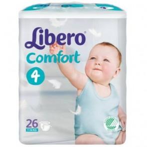 Libero Comfort Fit Maxi Plus Fraldas T4 - 7 - 14 Kg x 26
