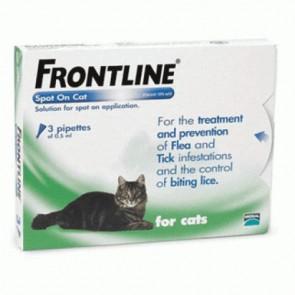Frontline Spot On Solução Gatos 0,5 ml x3