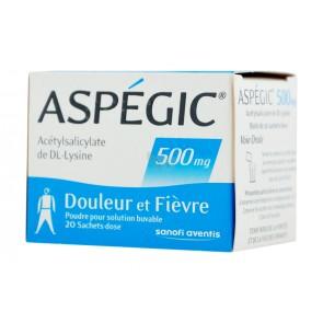 Aspegic 500 Pó para Solução Oral 900 mg x 20