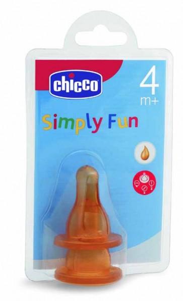 Chicco Tetina Simple Fun Borracha 4m+ x 2