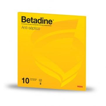 Betadine Compressa de Gaze Impregnada x 10