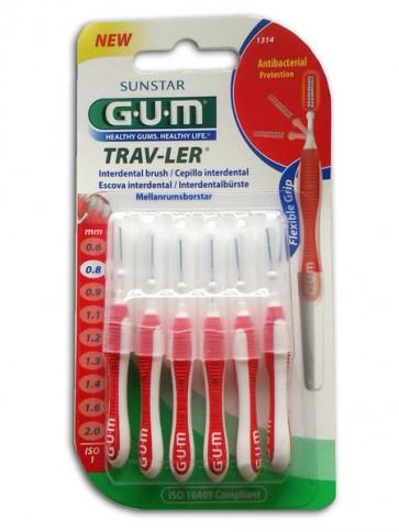 Gum Trav-Ler Escovilhão cónico 0,8mm x 6
