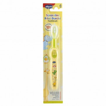 Chicco Escova Dentes Amarela 6m+