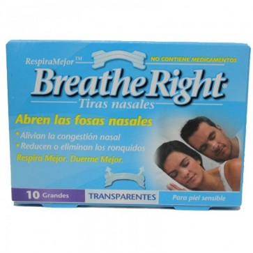 Breathe Right Penso Nasal Transparente Grande x 10
