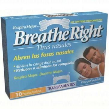 Breathe Right Penso Nasal Transparente Pequeno/Médio x 10