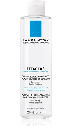 Roche Posay Effaclar Desmaquilhante Água Micelar 200 ml