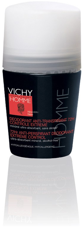 Vichy Homme Desodorizante Roll On Transpiração Excessiva 72 h 50 ml