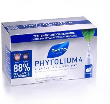 Phyto Ampolas Queda Cabelo Homem Phytolium 4 3,5 ml X 12
