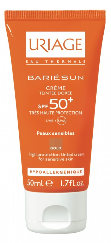Uriage Bariesun Creme C/ Cor Doré FPS 50+ 50 ml