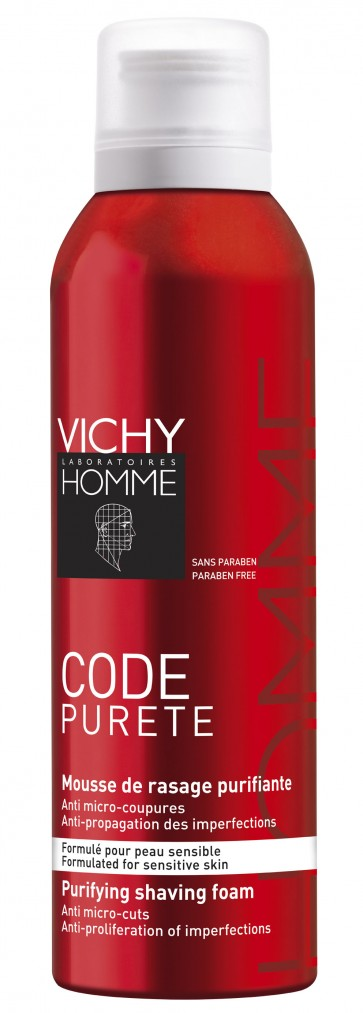 Vichy Homme Code Mousse Barbear Purificante 200 ml