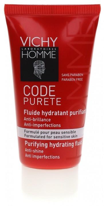 Vichy Homme Code Purete Fluído Hidratante Purificante 50 ml