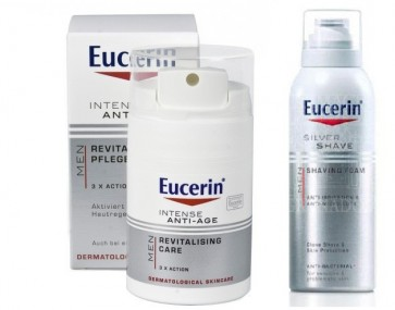 Eucerin Men Creme Anti-Age 50 ml + Oferta Espuma Barbear