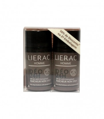 Lierac Homme Deo 24h Roll On 50 ml X 2