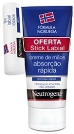 Neutrogena Creme Mãos Textura Ligeira + Stick Labial