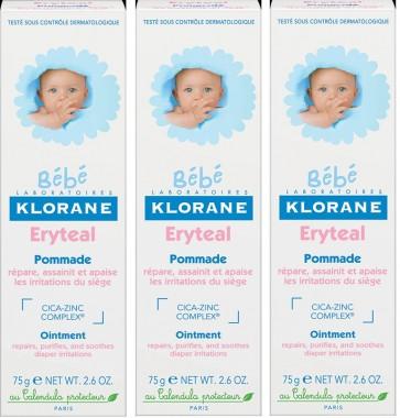 Klorane Bebé Creme Eryteal 75 ml x 3