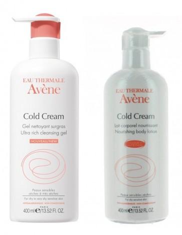 Avene Cold Cream Leite Corporal 400 ml + Gel 400 ml