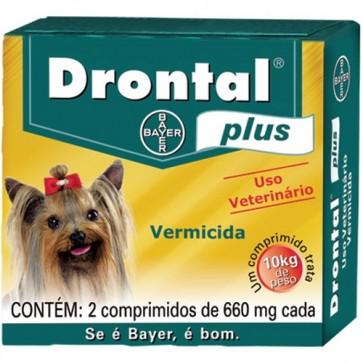 Drontal Plus Palatável Cão 10 kg Comprimidos x 2