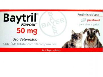 Baytril Palatável Comprimidos Cão 50 mg x 10 - 10Kg