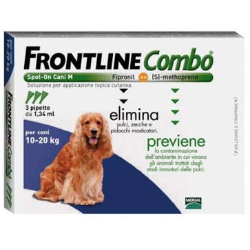 Frontline Combo Solução Cão 10-20 Kg 1,34 ml x 3