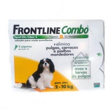 Frontline Combo Solução Cão 2-10 Kg 0,67 ml x 3
