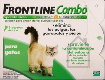 Frontline Combo Solução Top Gatos 0,5 ml x 3