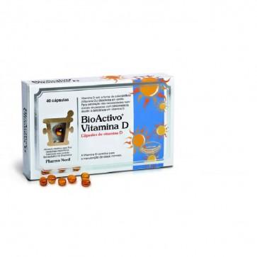 Bioactivo Vitamina D. Cápsulas Ossos E Músculos x 80