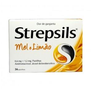 Strepsils Pastilhas Mel e Limão 0,6/1,2 mg x 36
