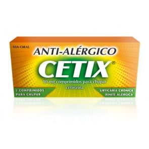 Cetix Comprimidos de Chupar 10 mg x 7