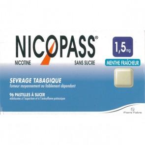 Nicopass Pastilhas 1,5 mg x 96