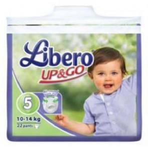 Libero Up and Go T5 Fraldas 10 - 14 Kg x 22