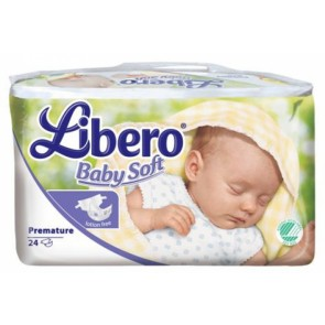 Libero Baby Soft Fraldas Prematuro x 24