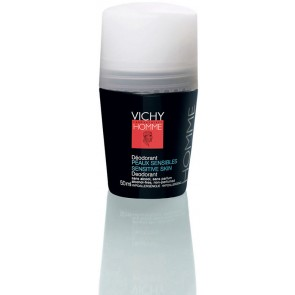 Vichy Homme Desodorizante Roll On Pele Seca 50 ml X 2
