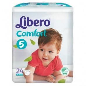 Libero Comfort Fit Maxi Plus Fraldas T5 - 10 - 16 Kg x 24