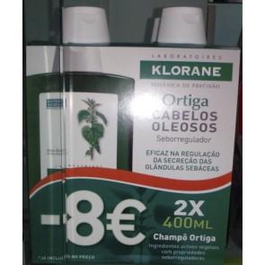Klorane Champô DUO Ortiga Branca 400 Ml
