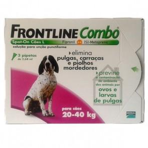 Frontline Combo Solução Cão 20-40 Kg 2,68 ml x 3