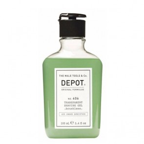 Depot Nº 406 Transparent Shaving Gel De Barbear 100ml